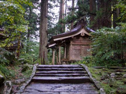 Massha Shrines at the base of Mt. Haguro of the Dewa Sanzan in Autumn