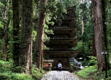 Mt. Haguro of the Dewa Sanzan Five Storied Pagoda Light Up on this summer