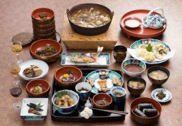 Autumn Furumai Cuisine at Dewaya Ryokan in Nishikawa on Mt. Gassan of the Dewa Sanzan