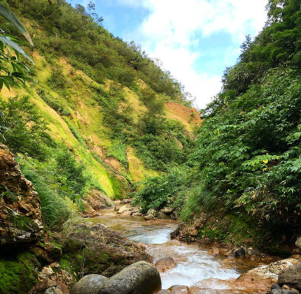 River on Mt. Yudono during autumn