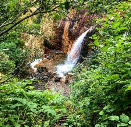 Otaki falls of Mt. Yudono of the Dewa Sanzan in Autumn