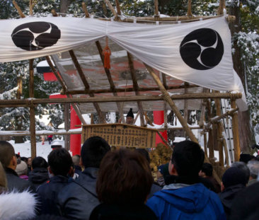 Matsuhijiri during the Shoreisai Festival on New Year's Eve at the top of Mt. Haguro