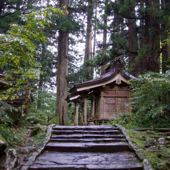 Massha Shrines at the base of Mt. Haguro of the Dewa Sanzan in Autumn
