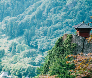 Temple at the top of Yamadera Risshakuji Temple, Yamagata, Japan